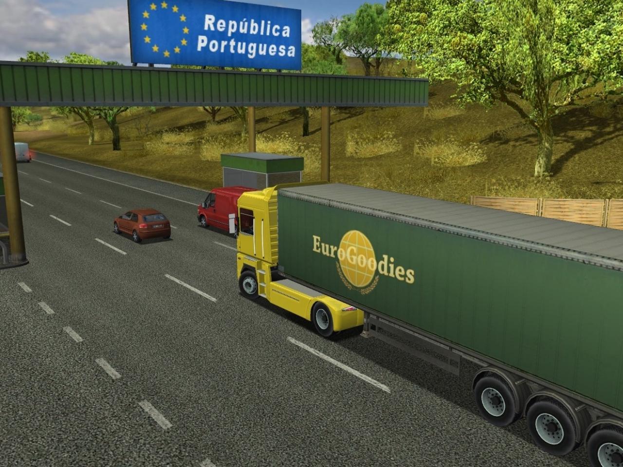 Скриншоты для игры С грузом по Европе Euro Truck Simulator.